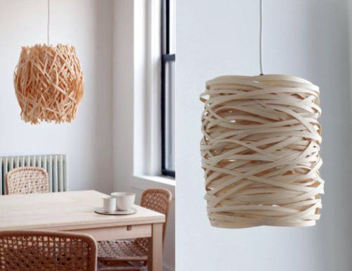 Woven wooden light shades are my fave on http://www.youaremyfave.com