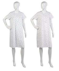 Ladies Slenderella Short Sleeved Floral Nightdress UK 10-22 (Blue or Pink)