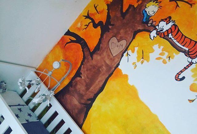 - new blog -  www.withalice.nl - sharing  38 weken zwanger! Wanneer kom je nou? Er is niet veel ruimte meer over in mijn buik hoor   #babyroom #babykamer #babybed #babyopkomst #mommietobe #mommyblogger #newblog #babyboy #zwangerschap #zwanger #pregnant #38weekspregnant #wallpainting #herfst #herfstkleuren #casperandhobbes #calvinandhobbes #autumn #autumncolors #blogger #diy #homedeco #homeinspo #homeinterior #interieur #binnenkijken #babyroomdecor