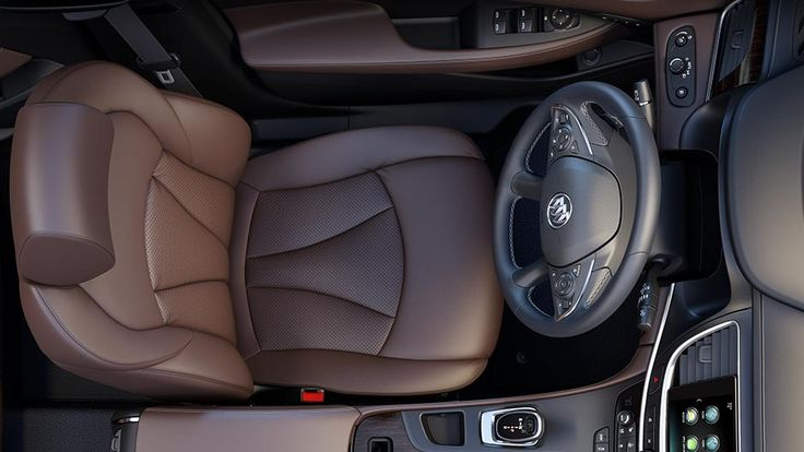 Safety alert seat inside the 2017 Buick LaCrosse full-size sedan gently vibrates to signal an approaching hazard.