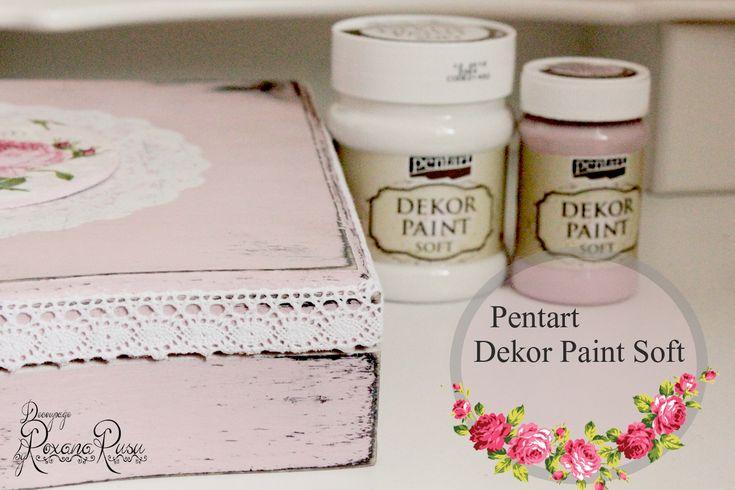 Pentart - Dekor paint soft - Romantic wooden Box