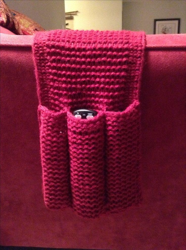Loom knit remote control caddy