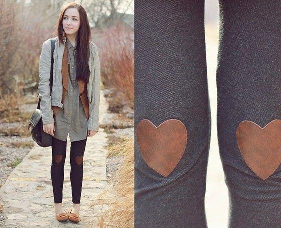 diy leather heart leggings by a fellow winnipeg-er!