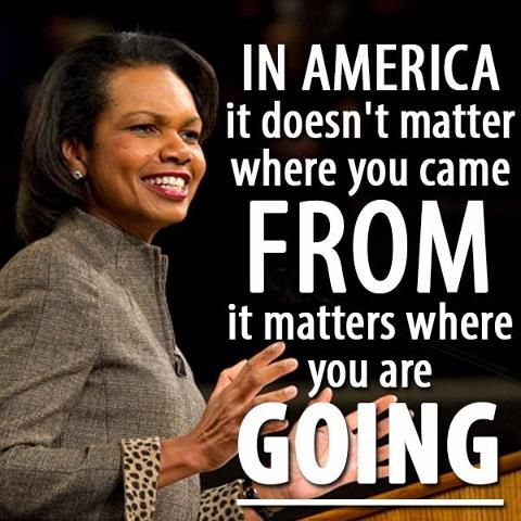 Former Secretary of State Condoleezza Rice.  Please support who she supports in the upcoming election!