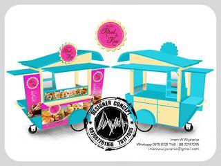 Desain Logo | Logo Kuliner |  Desain Gerobak | Jasa Desain dan Produksi Gerobak: Desain Gerobak Dorong Kedai Risol dan Kue