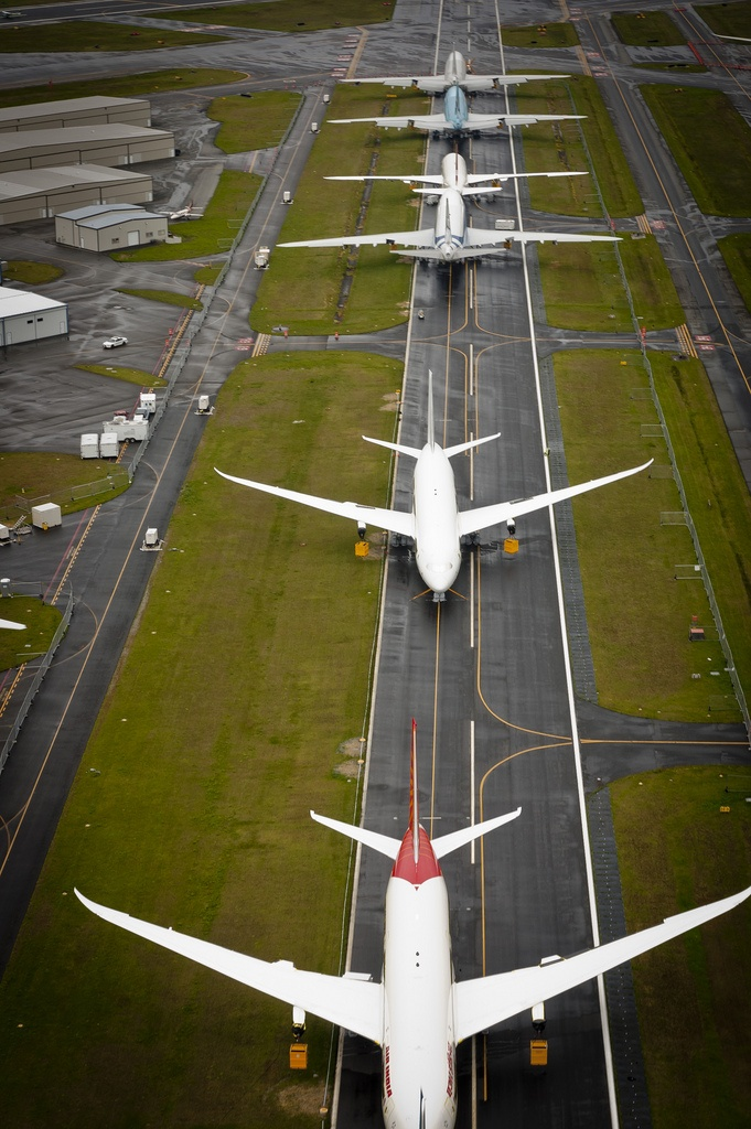 Boeing 787 waiting for delivery at Paine Field WA