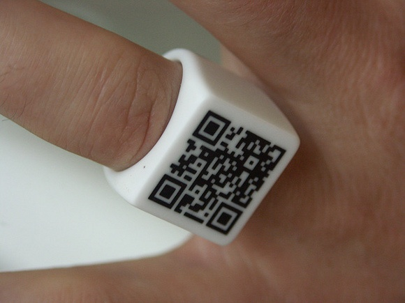 QR code ring as the key to Bagend.