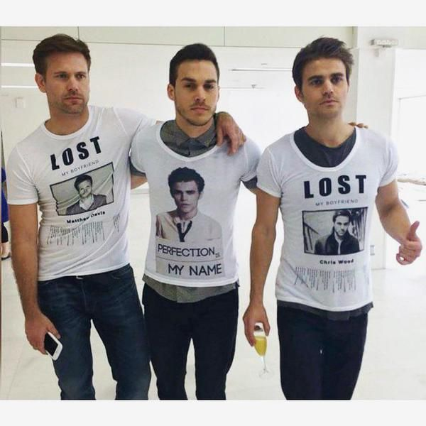 These Guys Are Funny~ Matt Davis, Chris Wood, and Paul Wesley