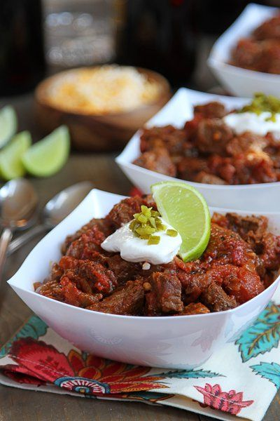 This Steak and Poblano Chili is packed with so much flavor and couldn't be easier to prepare. Try this version instead of the same old thing!