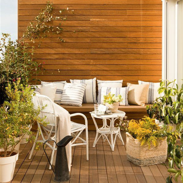 290 best terrazas patios y balcones images on pinterest - Ideas decoracion jardines exteriores ...