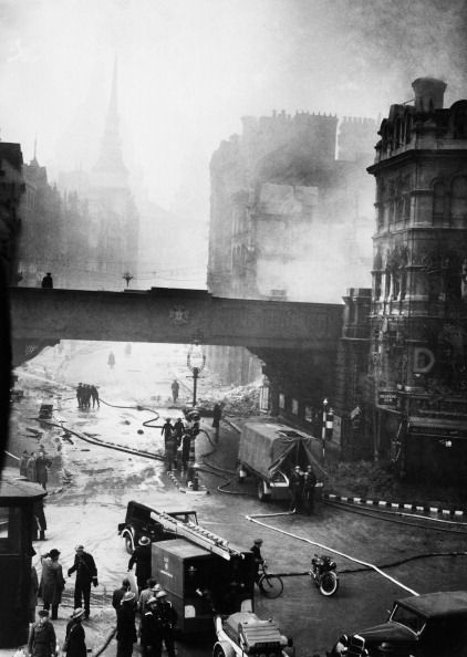 Ludgate Circus after an air raid on London, January 1940 (Photo by Keystone-France/Gamma-Keystone via Getty Images)