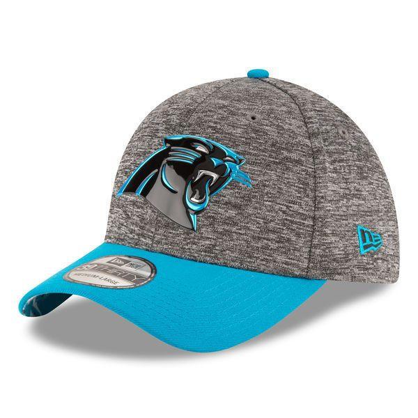 CAROLINA PANTHERS NFL NEW ERA DRAFT DAY 39THIRTY SIDELINE ON FIELD FLEX HAT  S/M
