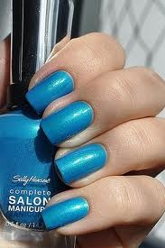 Sally Hansen nail polish in Calypso Blue!! My favorite to wear on my toes!!