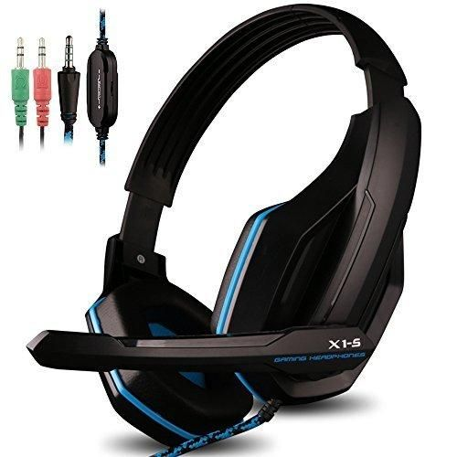 Gaming Headset for PS4 PC iPhone Smart Phone Laptop Tablet iPad iPod Mobilephones MP3 MP4X1-S 4 Pin 3.5mm Jack Multi Function Game Headphones with Mic by AFUNTA
