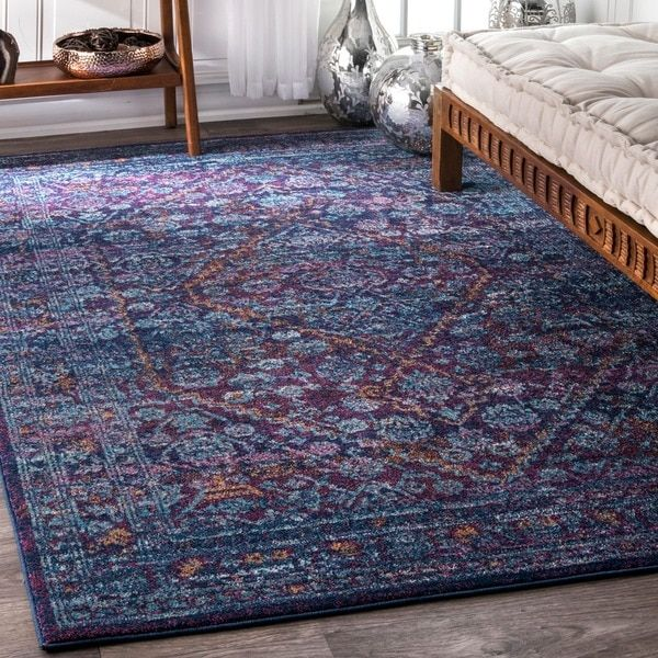 nuLOOM Persian Mamluk Diamond Purple Rug (8' x 10') | Overstock.com Shopping - The Best Deals on 7x9 - 10x14 Rugs