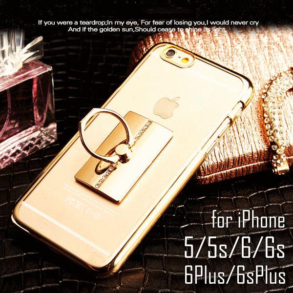 iphone5/5s/iphoneSE/iphone6/6s/iphone6Plus/6sPlus/iphoneケース/アイフォン。新色追加♪バンカーリング×ハートリングクリアケース★iphone6s/6sPlus/iPhone6/6Plus/iPhone5/5S iPhone ケース スマホケース/ビジュー/ラインストーン/デコ/キラキラ/ソフトケース/ハードケース/バンパー★【メール便送料無料】☆代引は別途送料・手数料がかかります☆