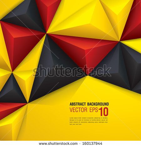 Vector geometric background in German flag concept. Can be used in cover design, book design, website background, CD cover, advertising.
