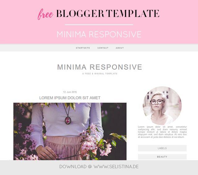 Freebie: Minima Responsive Blogger Template