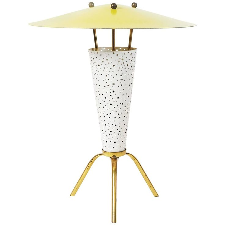 Rare Tripod Table Lamp by Ernest Igl, 1950s   From a unique collection of antique and modern table lamps at https://www.1stdibs.com/furniture/lighting/table-lamps/