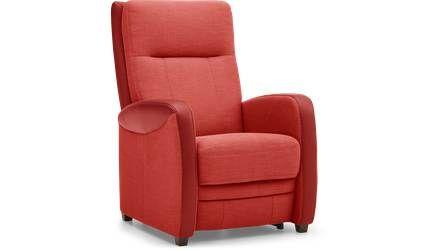 Sta-op stoel York rood schuinaanzicht voorkant
