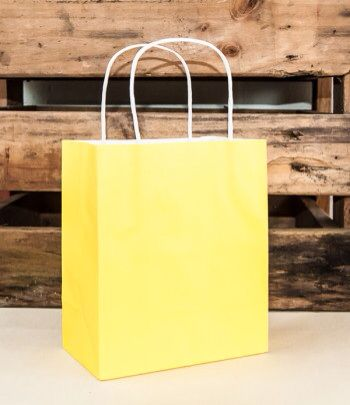 Yellow handle bag www.qualitytimepartysupplies.com.au