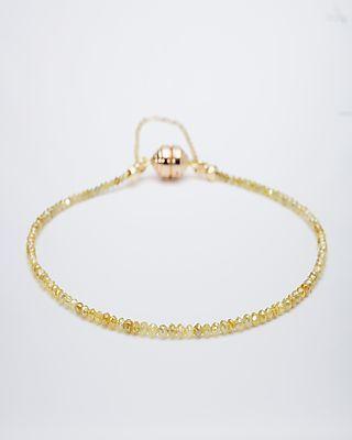 Sogni d'oro Armband mit gelben Diamant-Rondellen  je ca. 2,5 mm mit insgesamt ca. 18 ct    - Der edle Armschmuck ist mit einem praktischen Magnetverschluss mit Sicherheitskette aus hochwertigem 585er Gelbgold ausgestattet. In einer Länge von 20 cm, mit einem Durchmesser von ca. 2,5 mm schmiegt es sich angenehm leicht um Ihr Handgelenk.     #sognidoro #sogni #doro #schmuck #edelsteine #diamant #diamond #yellow #bracelet 392903