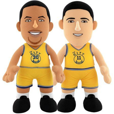 NBA Dynamic Duo 10 inch Plush Bundle Warriors, Curry HC, Thompson, Multicolor