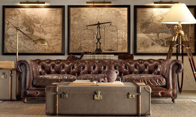 Wenn du auf den trendigen Industrial Style im Wohnzimmer stehst, solltest du dir eine alte Ledercouch besorgen. Geniale Beispiele findest du hier!