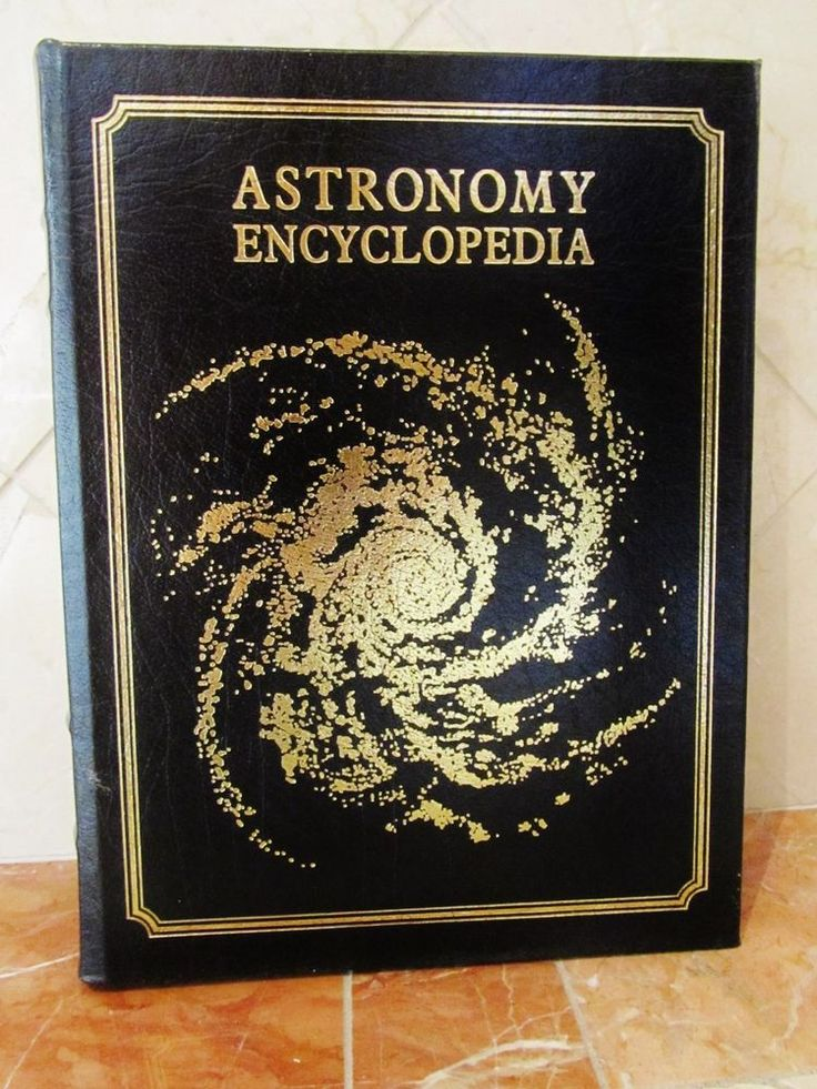 Oxford Press Astronomy Encyclopedia Leather Book Space Science Rare Black