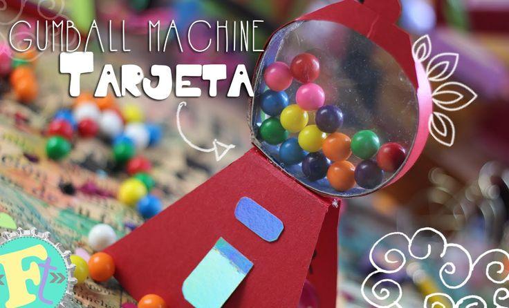 Tarjeta Maquina de dulces, (con dulces reales) //San Valentín// Floritere
