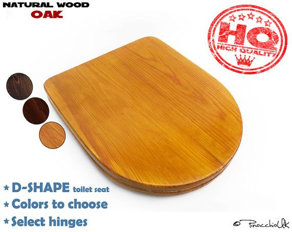 D-shape wood toilet seat (3 colors to choose)    Square wooden toilet, Soft close, Slow close, Rustic toilet seat for your bathroom