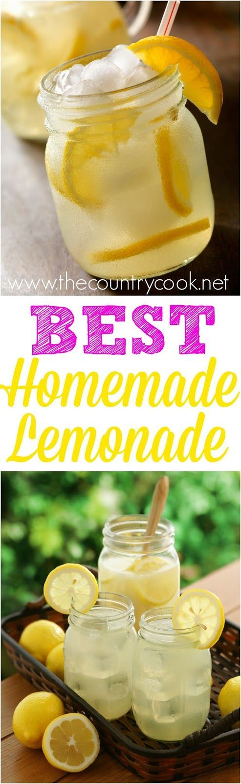 Secret Ingredient Homemade Lemonade recipe from The Country Cook. Really, the best!