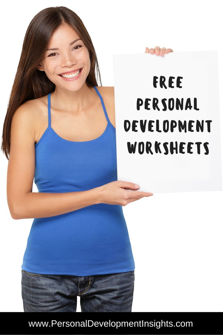 FREE Personal Development Worksheets. Follow the link to my website for professional personal development worksheets that are absolutely free. www.personaldevelopmentinsights.com