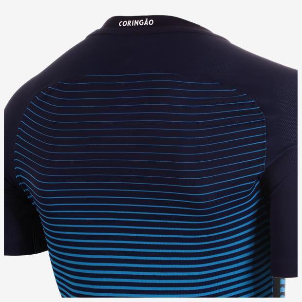 Terceira camisa do Corinthians 2016-2017 Nike Azul gola