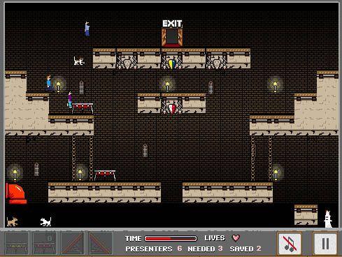 Escape from Castle Doom - I don't know how to describe this properly :) Escape mechanics platformer? :)