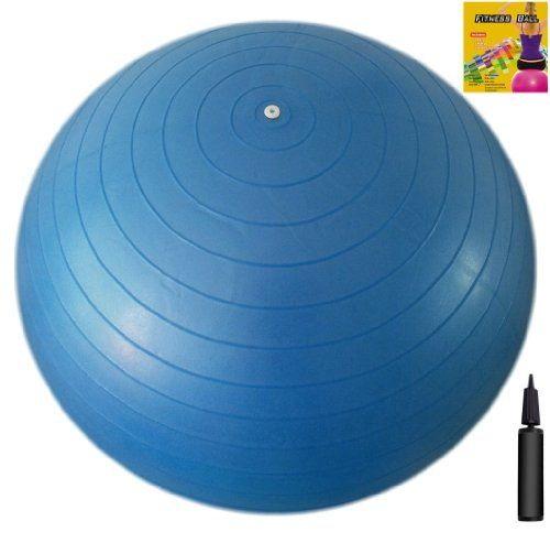 Fitness Ball: Blue, 30in/75cm Diameter, Includes 1 Ball +1 Pump + 1 Page Instruction Chart. No instructional DVD. (Exercise Gym Swiss Stability Ball) - [Available From Amazon(UK & Ireland)] - Gym Ball Load Ratings: Static Load Capacity:   550 lbs / 250 kg Dynamic Load Capacity: 450 lbs / 200 kg  Size Chart (Ball Diameter> User Height): 45cm/18in> 5'0″/152cm55cm/22in> 5'1″ – 5'6″/155 -167cm 65cm/26in> 5'7″ &#821
