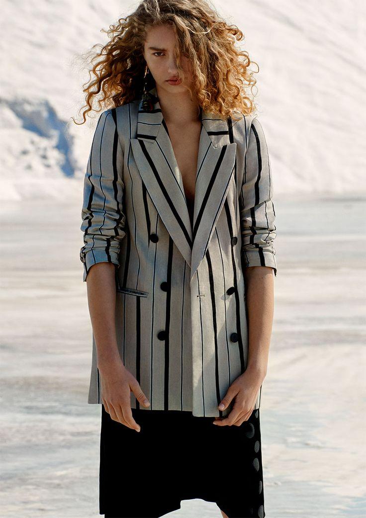Early Spring Lookbook | JACQUARD POLKA DOT SKIRT from Zara