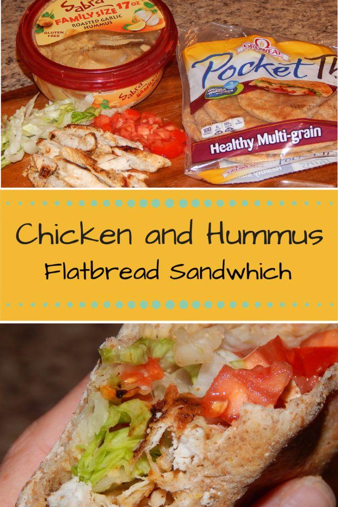 Hummus Chicken Flatbread Sandwich   Life in the Orchard