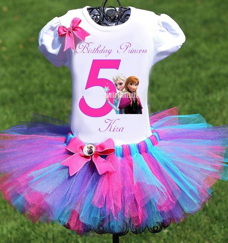 Frozen Birthday Tutu Outfit Cumpleaños de princesa