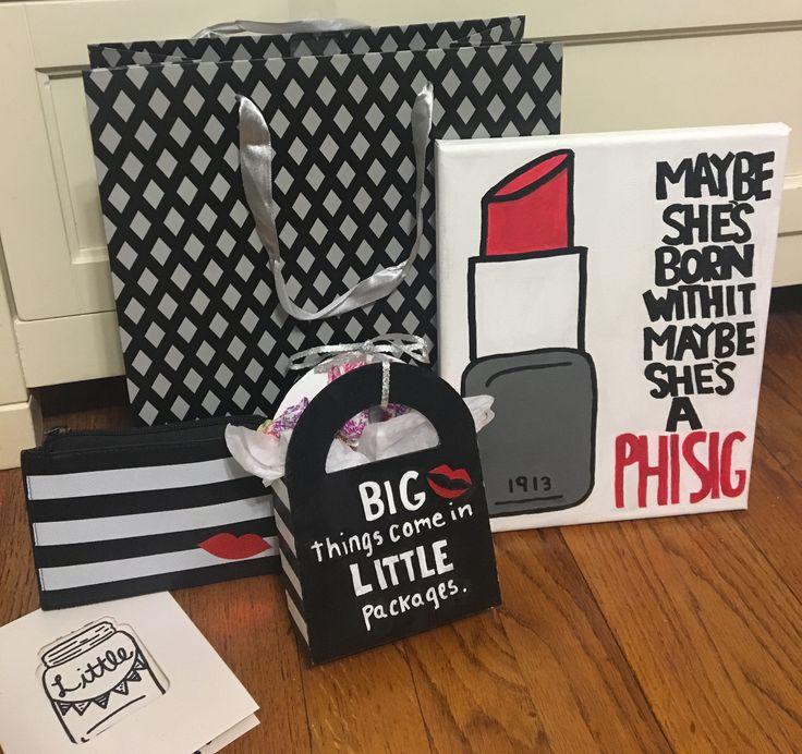 Phi Sigma Sigma Sorority Crafts Big Little Reveal Makeup Clues Phi Sig Sephora Canvas