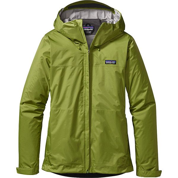 Patagonia Womens Torrentshell Jacket ($97) ❤ liked on Polyvore featuring activewear, activewear jackets, green, patagonia and patagonia sportswear