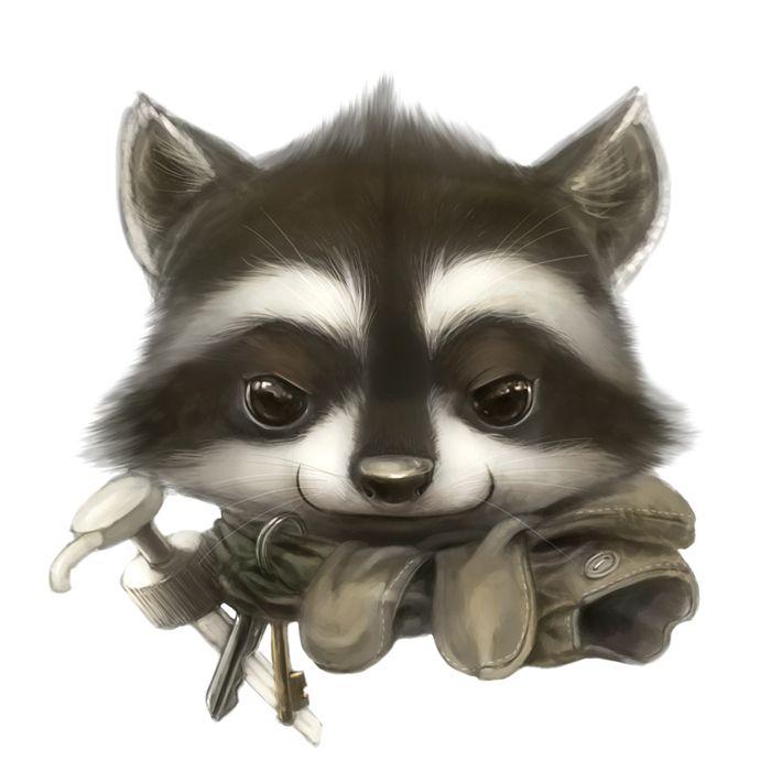 Raccoon portrait by Silverfox5213 on DeviantArt