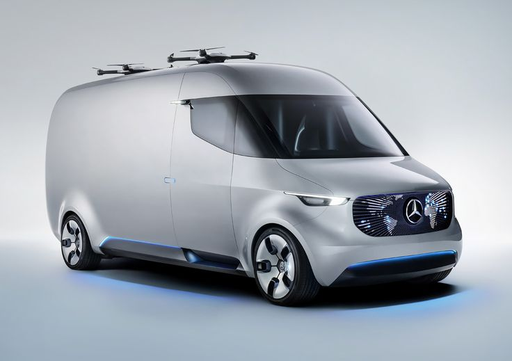 """Mercedes-Benz recently unveiled their all-electric """"Vision Van"""" concept, combining a number of innovative solutions for delivery in urban and suburban environments.   """"It is the first van worldwide to fully digitally connect all people and processes involved, from the distribution centre to the collector. Furthermore, it is the first van ever to feature a fully automated cargo space and integrated delivery drones. For example, if a parcel service provider stops his vehicle in a residential…"""