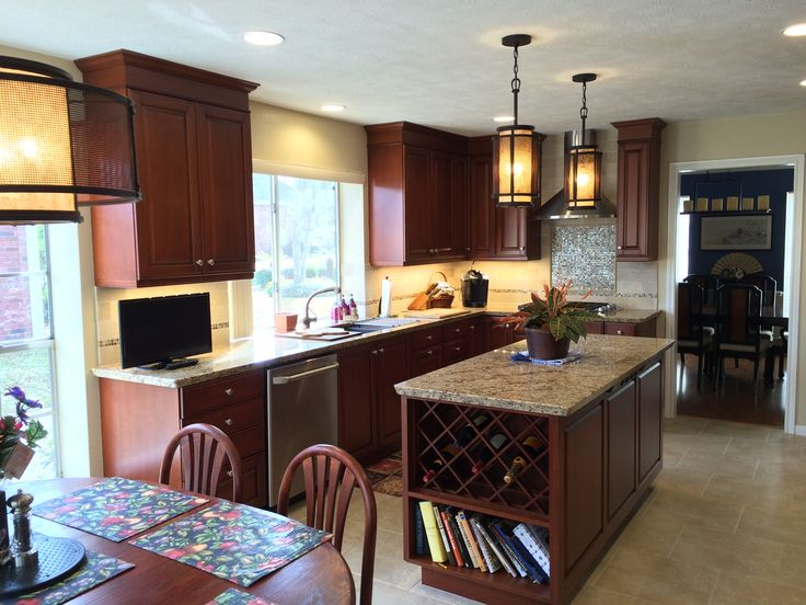 Camp Kitchen 2015 1 This Traditional Kitchen Features Custom Brookhaven  Cabinets By Wood Mode,