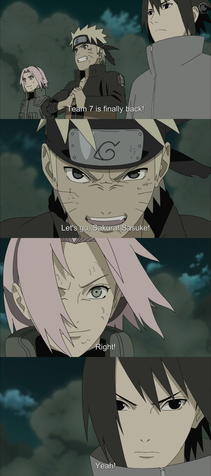 Naruto Shippuden - Team 7 the happiest day of my life ♥ when team 7 was back together ♥