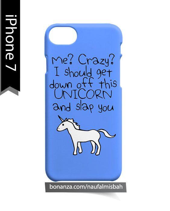 Blue Unicorn Quote iPhone 7 Case Cover Wrap Around