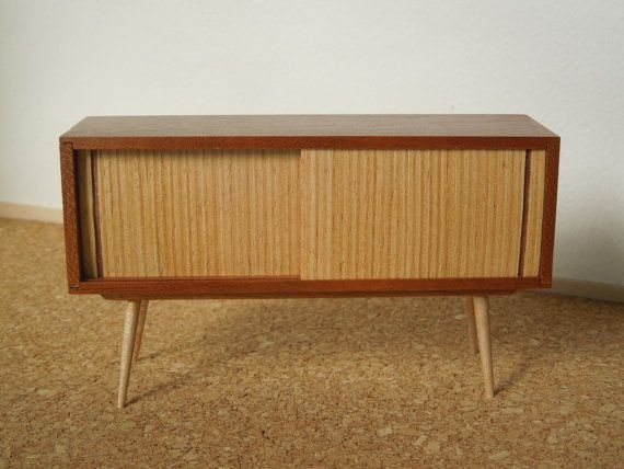Mid Century Modern Miniature Cradenza in cherry 1:12 scale on Etsy, Sold
