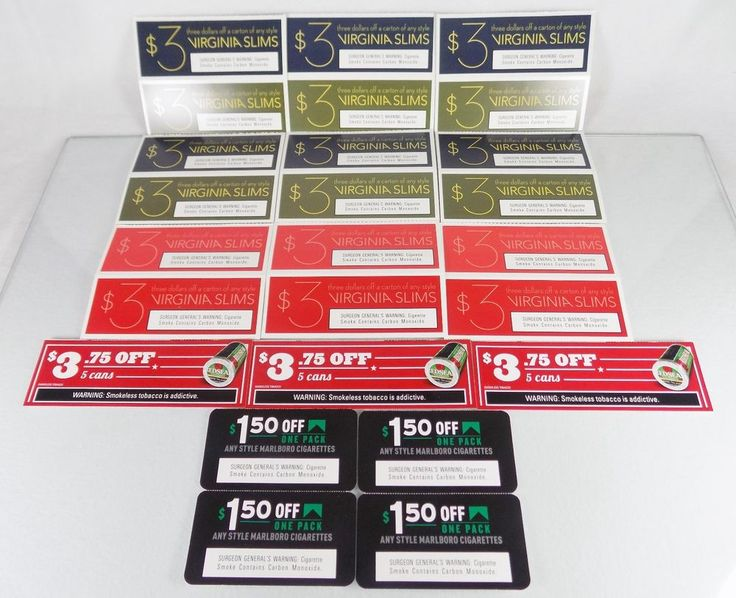 #Marlboro Red Seal and Virginia Slims 25 #cigarette pack carton #tobacco #snuff manufacturer's manufacturers manufacturer #coupon #voucher lot/set with $70+ #discounts and savings, brand new and unused in original full color paper card form with clearly scannable UPC bar-codes and March 31st-April 4th 2016 stamped expiration/use by dates, brand new and unused http://www.ebay.com/itm/NEW-MARLBORO-RED-SEAL-VIRGINIA-SLIMS-25-CIGARETTE-TOBACCO-COUPONS-70-SAVINGS-/141918847013?hash=item210b05c025