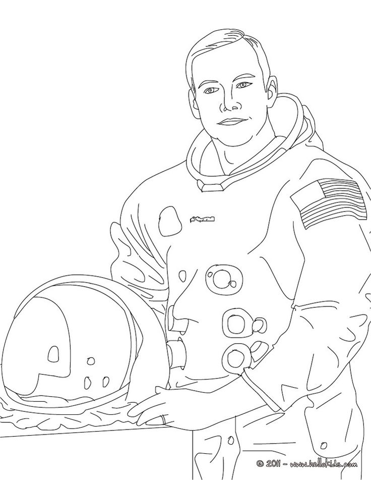 NEIL ARMSTRONG Coloring Page
