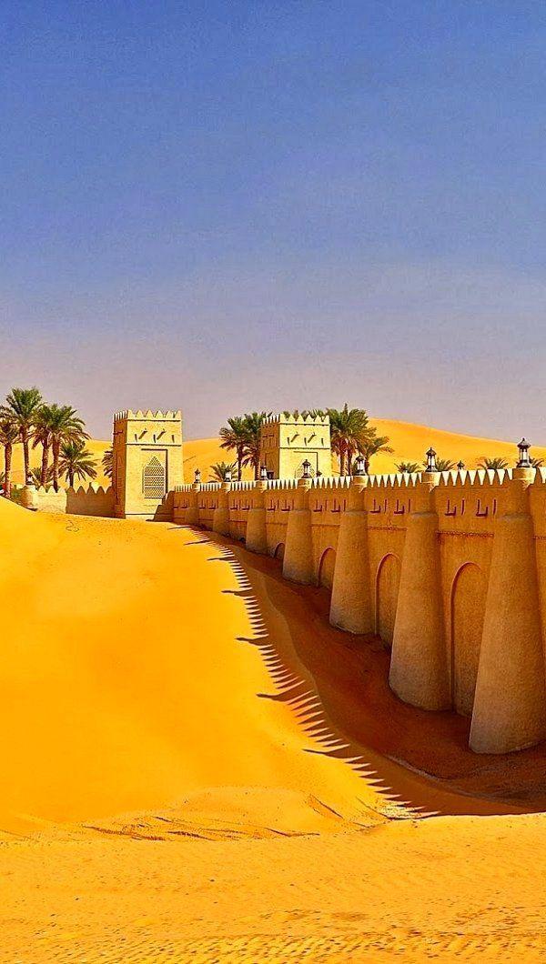 Arabian Walk, Liwa Oasis in Rub' al Khali desert, United Arab Emirates. https://ExploreTraveler.com
